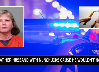 Wife Beat Her Husband With Nunchucks