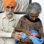indian old couple haves baby