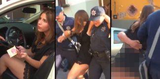 lady bribing mexican police