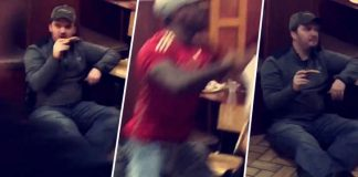 fight in resturant