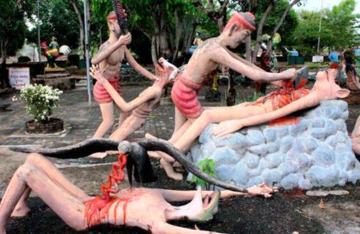 Wang Saen Suk Hell Buddhist Hell Garden in Thailand - TheNoChill (5)