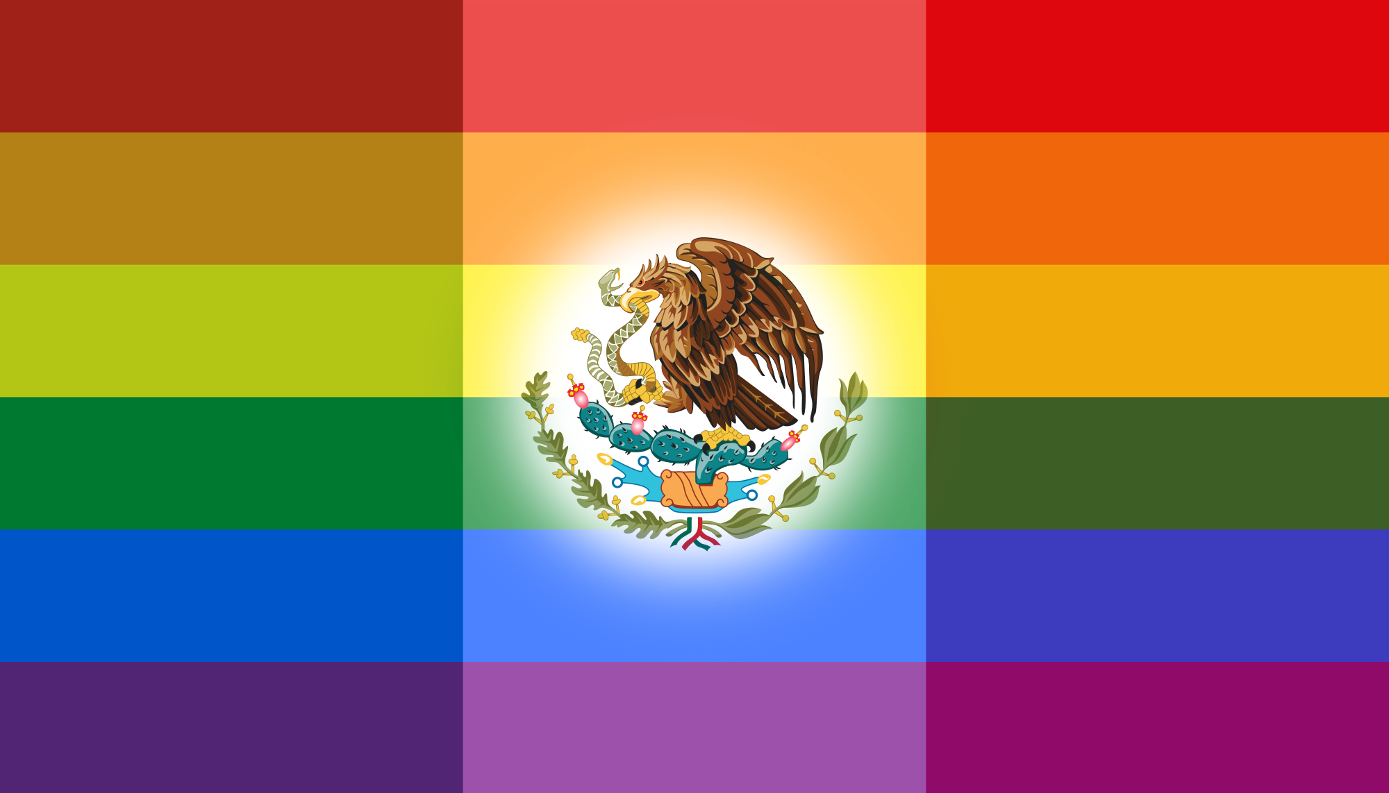 The New Mexican Flag - Mexicans Sign Petition For Rainbow Flag