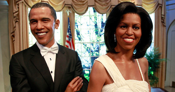 "The wax copies of Barack and Michelle Obama are among the figures that were ""sexually assaulted"" by the accused."